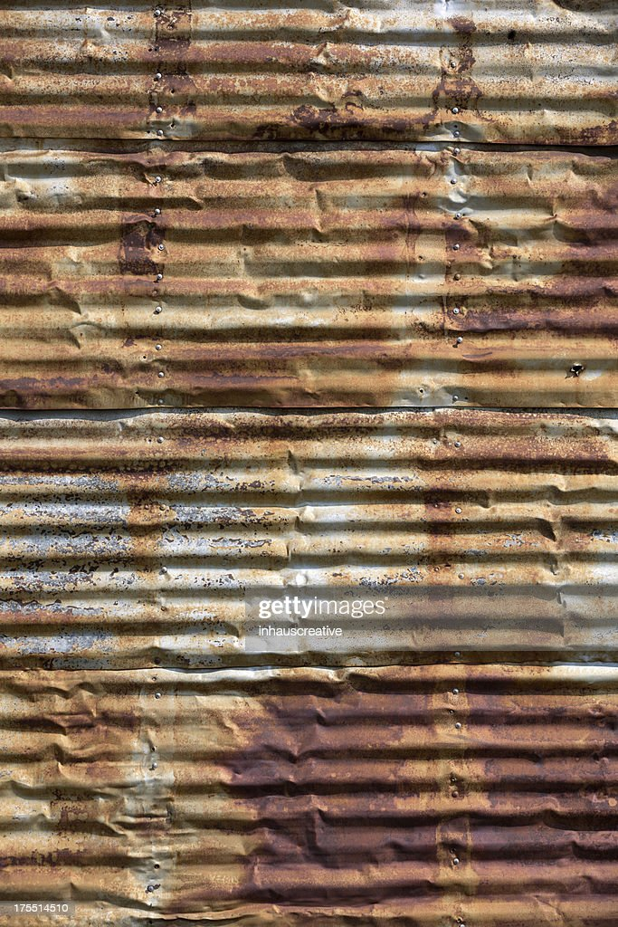 Rusted Corrugated Metal Background