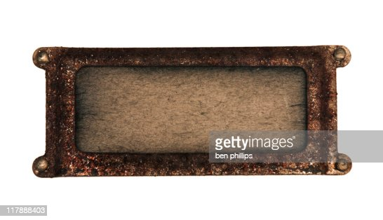 Rusted plaque