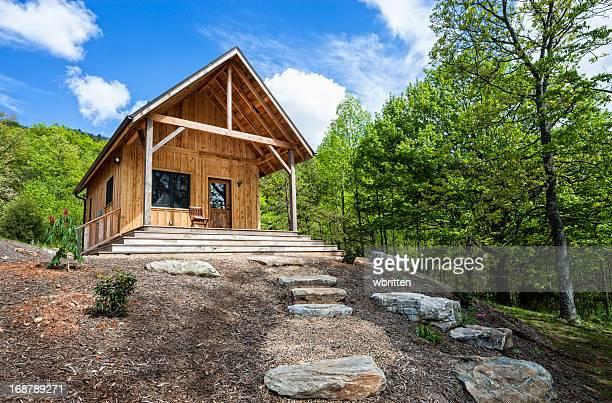Rustikalen Hütte in den Blue Ridge Mountains