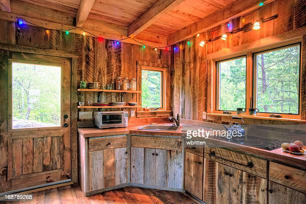 Rustikalen Hütte Küche