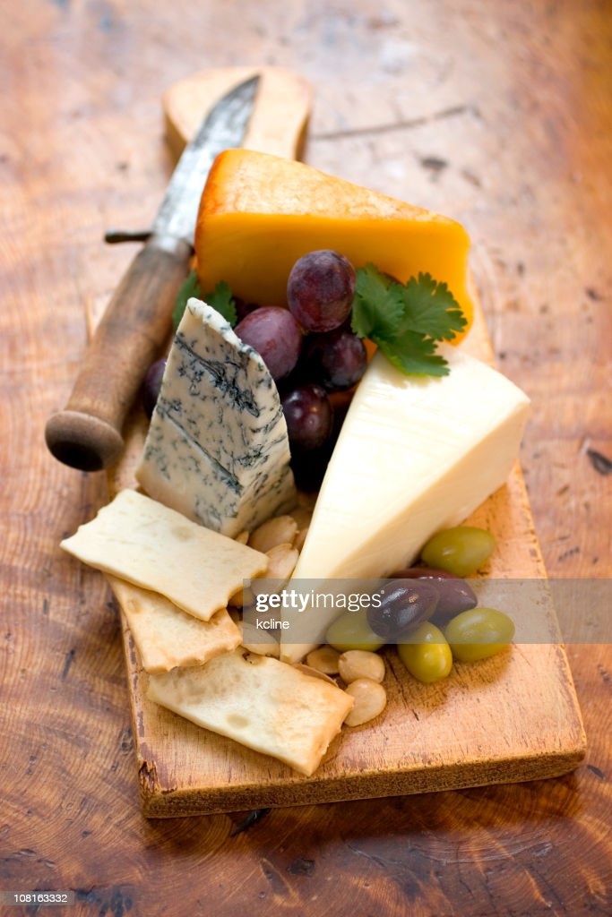 Rustic Cheese Plate : Stock Photo