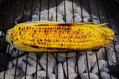 Rustic corn on the cob