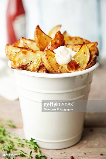 Rustic potato wedges