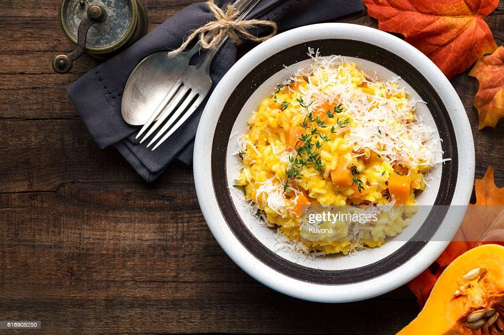 Rustic pumpkin risotto : Stock Photo