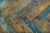 Reclaimes rustic wooden barn door, wall or table texture, background and wallpaper