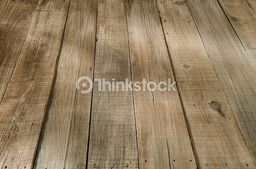 Rustic wooden floorboard : Stock Photo