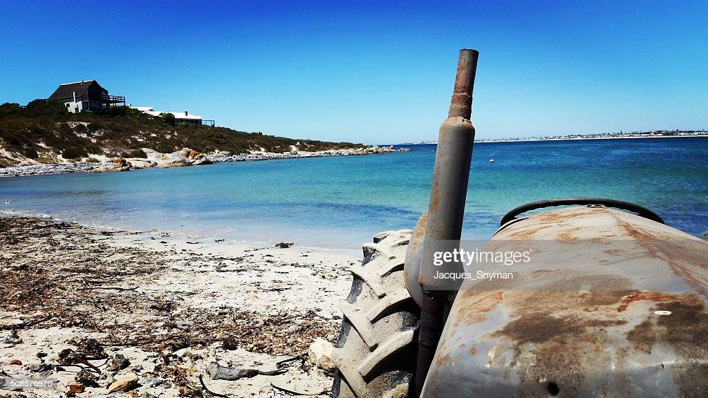 Rusting Tractor : Bildbanksbilder