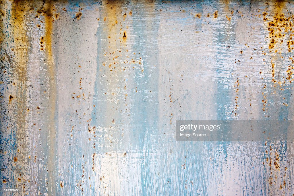 A rusting wall : Stock Photo