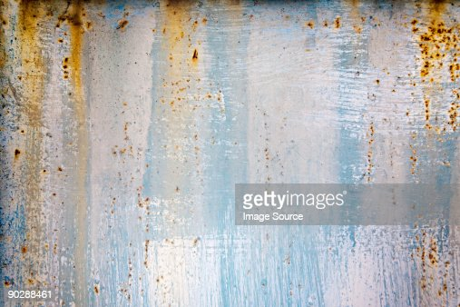 A rusting wall