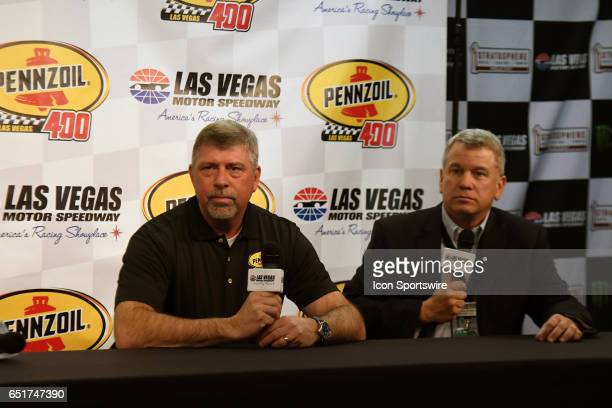 Rusty Barron Vice President of Marketing Shell Lubricants Americas and Chris Powell President and General Manager announce the new sponsorship and...