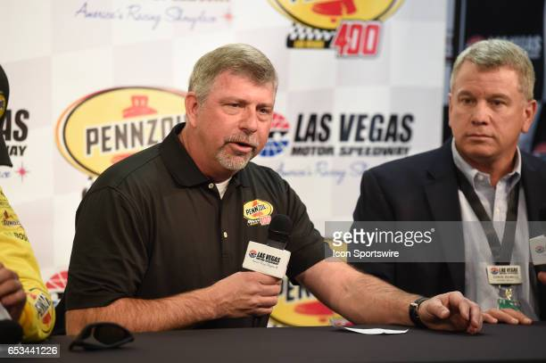 Rusty Barron Vice President Shell Lubricants Americas announce the new sponsorship and Pennzoil 400 race for 2018 at LVMS on Stratosphere Pole Day...