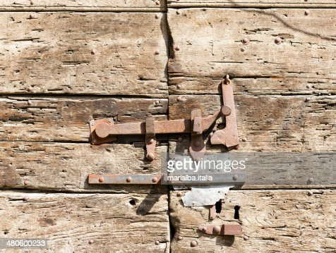 Rusty Bolt and hinges : Stock Photo