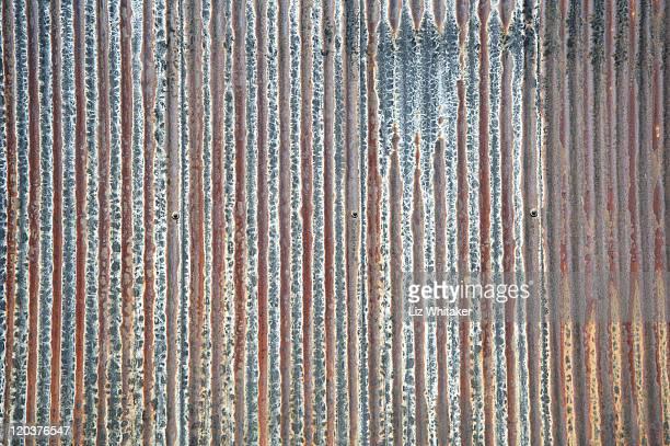 Rusty corrugated iron, full frame
