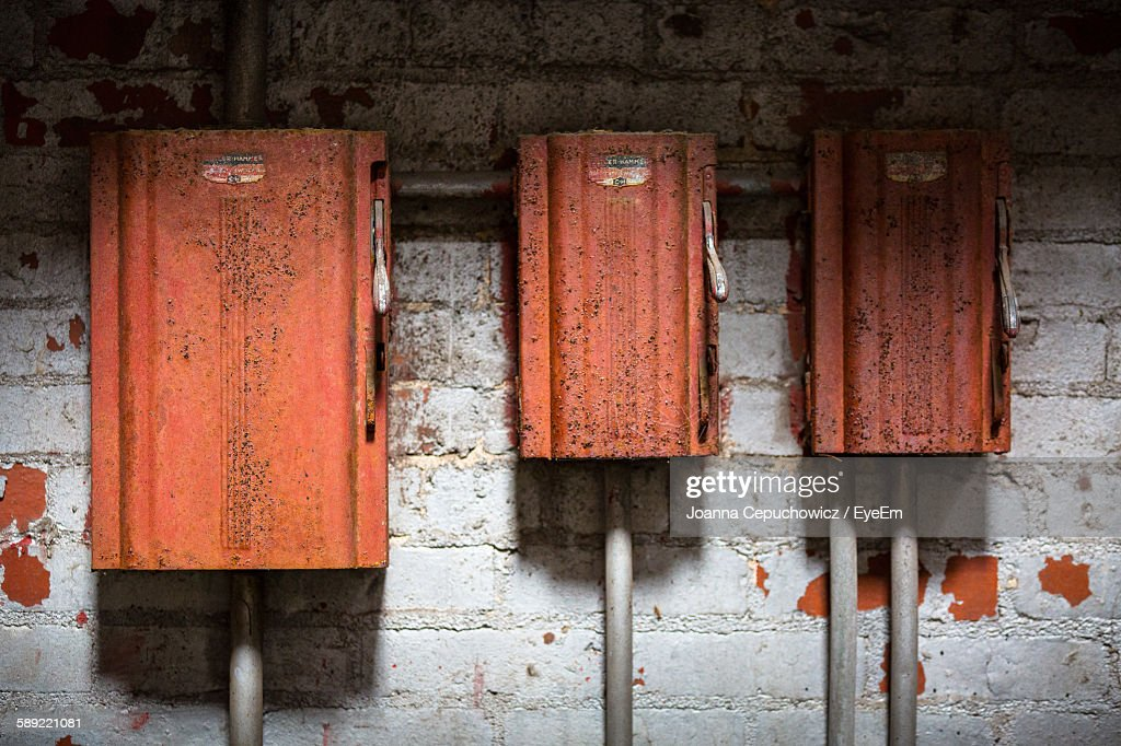 rusty fuse box in abandoned factory picture id589221081?s=612x612 old fuse box stock photos and pictures getty images Old Fuse Box Parts at panicattacktreatment.co