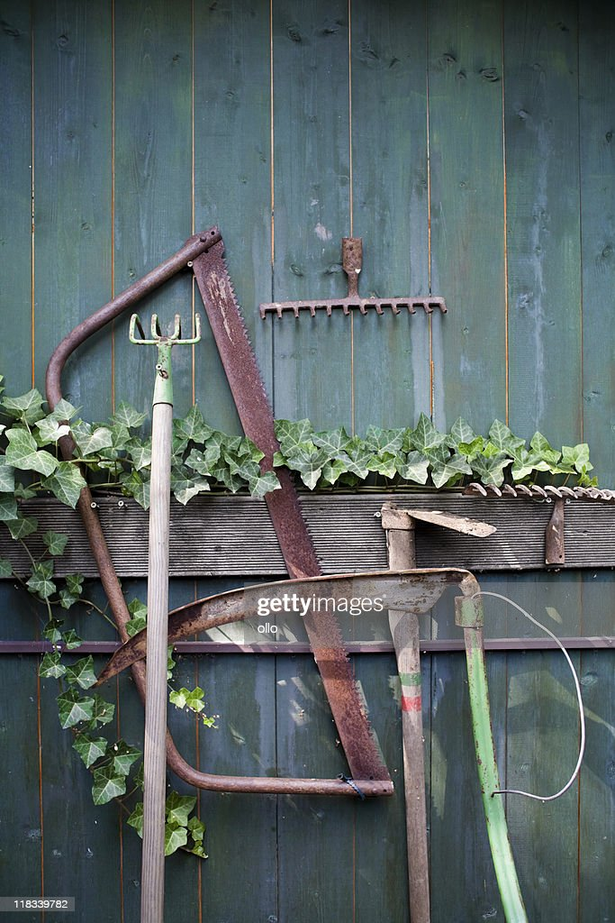 Rusty Garden Tools Stock Photo Getty Images