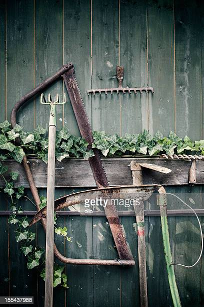 Rusty outils de jardinage