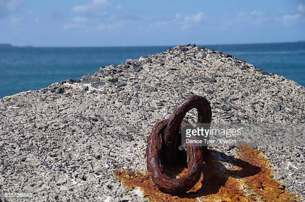 Rusty Mooring Ring In Concrete