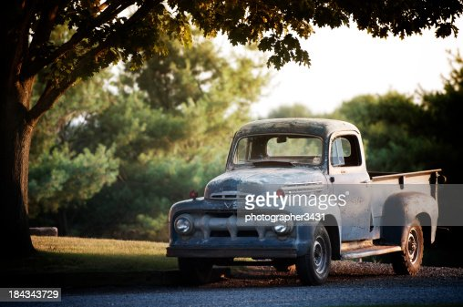 Rusty Old Ford F2 Pickup