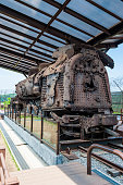 Rusty train at Imjingak, high security border between South and North Korea, Pammunjom, South Korea