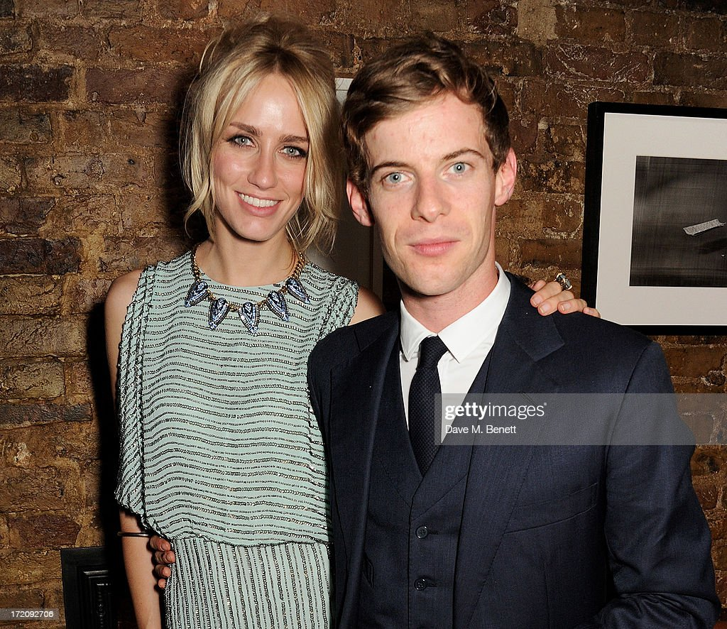 Ruta Gedimintas (L) and <a gi-track='captionPersonalityLinkClicked' href=/galleries/search?phrase=Luke+Treadaway&family=editorial&specificpeople=737104 ng-click='$event.stopPropagation()'>Luke Treadaway</a> attend an after party following 'A Curious Night at the Theatre', a charity gala evening to raise funds for Ambitious about Autism and The National Autistic Society, at Century Club on July 1, 2013 in London, England.