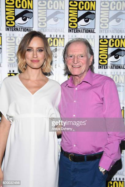 Ruta Gedmintas and David Bradley attend the The Strain press conference at ComicCon International 2017 on July 20 2017 in San Diego California