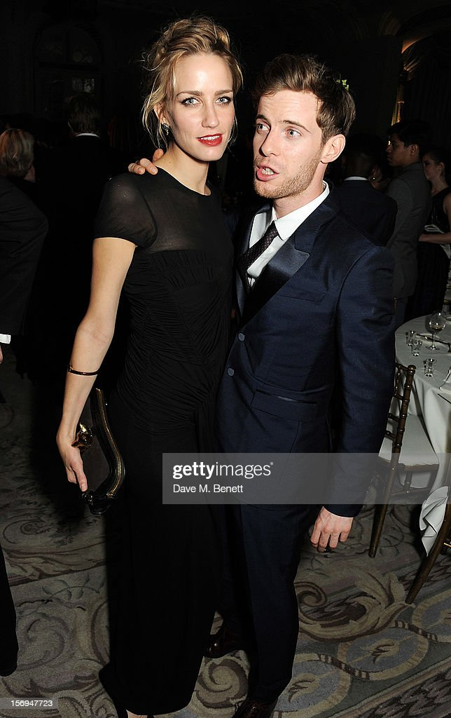 Ruta Gedmintas (L) and Luke Treadaway attend an after party following the 58th London Evening Standard Theatre Awards in association with Burberry at The Savoy Hotel on November 25, 2012 in London, England.
