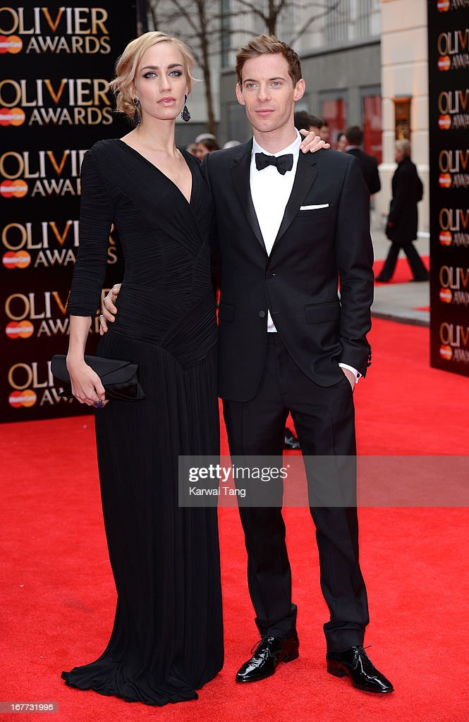 Ruta Gedmintas and Luke Treadaway attend The Laurence Olivier Awards at The Royal Opera House on April 28, 2013 in London, England.