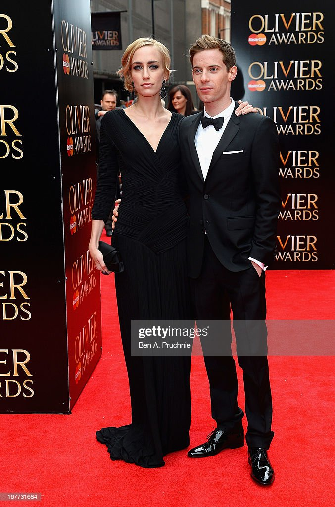 Ruta Gedmintas and Luke Treadaway attends The Laurence Olivier Awards at the Royal Opera House on April 28, 2013 in London, England.