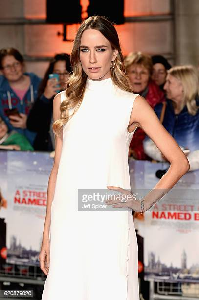 Ruta Gedmintas attends the UK Premiere of 'A Street Cat Named Bob' in aid of Action On Addiction on November 3 2016 in London United Kingdom