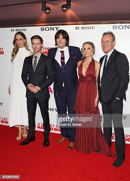 Ruta Gedmintas Luke Treadaway James Bowen Joanne Froggatt and Anthony Head attend the UK Premiere of 'A Street Cat Named Bob' in aid of Action On...