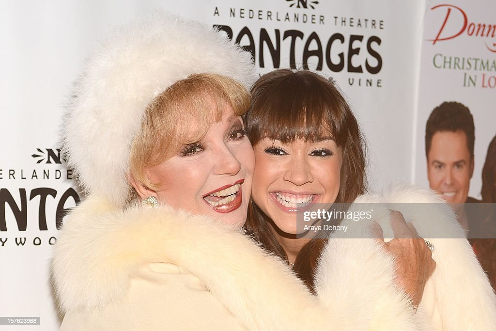 <a gi-track='captionPersonalityLinkClicked' href=/galleries/search?phrase=Ruta+Lee&family=editorial&specificpeople=1547229 ng-click='$event.stopPropagation()'>Ruta Lee</a> and Diana DeGarmo arrive at the 'Donny & Marie Christmas In Los Angeles' - Opening Night Performance at the Pantages Theatre on December 4, 2012 in Hollywood, California.