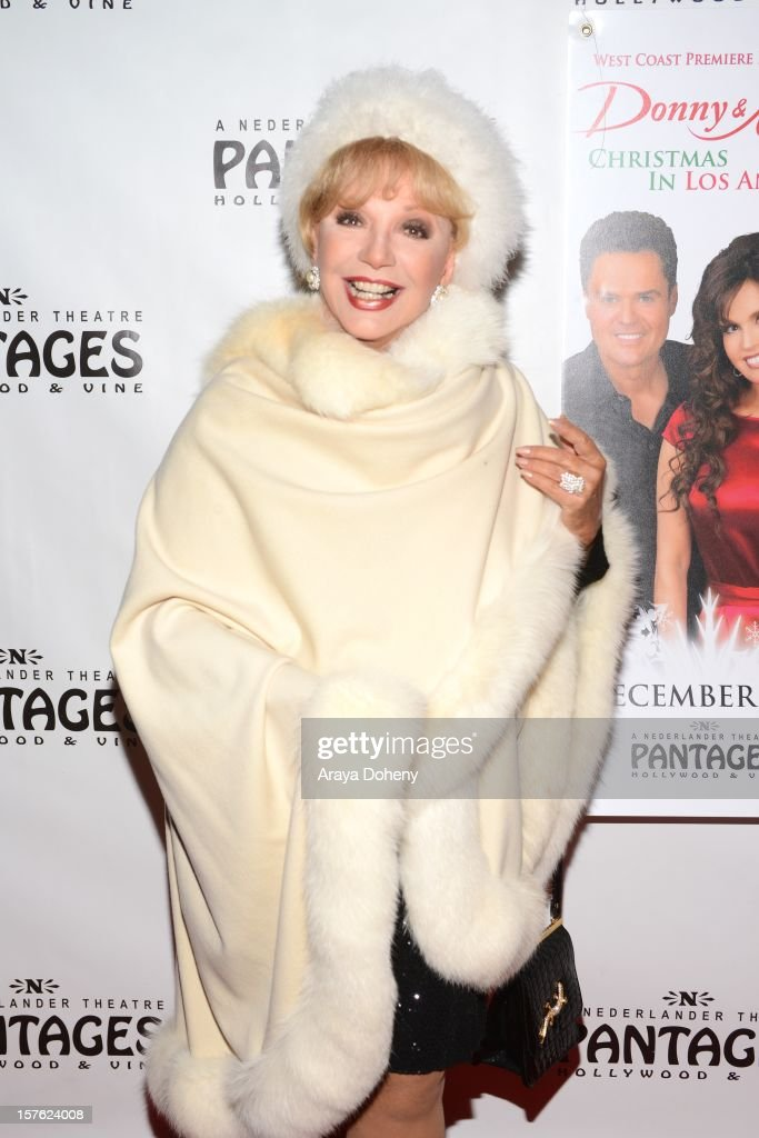 Ruta Lee arrives at the 'Donny & Marie Christmas In Los Angeles' - Opening Night Performance at the Pantages Theatre on December 4, 2012 in Hollywood, California.