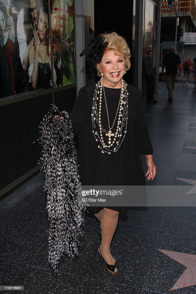 Ruta Lee as seen on July 9, 2013 in Los Angeles, California.