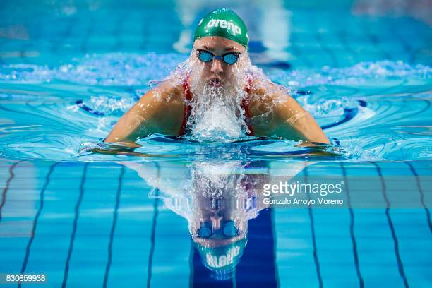Ruta Meilutyte from Lituania competes during the Women's 50m Breaststroke of the FINA/airweave Swimming World Cup Eindhoven 2017 at Pieter van den...