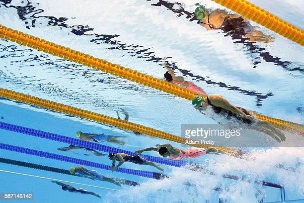 Ruta Meilutyte of Lithuania Yulia Efimova of Russia Rikke Moller Pedersen of Denmark Jennie Johansson of Sweden and Jessica Vall Montero of Spain...