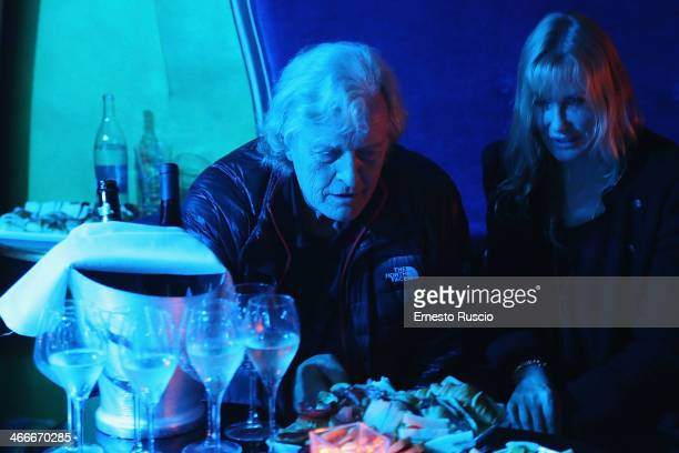 Rutger Hauer and Daryl Hannah attend the 'Sights Of Death' Pre Berlinale Party at NUR BAR on February 2 2014 in Rome Italy