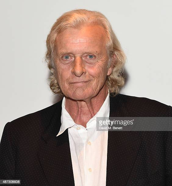 Rutger Hauer attends a photocall for 'The Last Kingdom' at Charlotte Street Hotel on September 8 2015 in London England