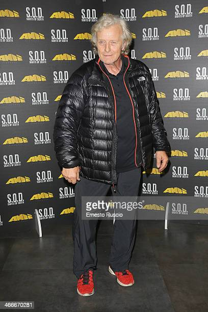 Rutger Hauer attends the 'Sights Of Death' Pre Berlinale Party at NUR BAR on February 2 2014 in Rome Italy