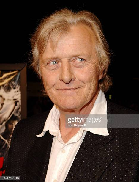 Rutger Hauer during 'Sin City' Los Angeles Premiere Arrivals at Mann National Theater in Westwood California United States