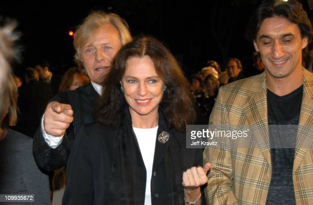 Rutger Hauer Jacqueline Bisset and Emin Boztepe during Confessions of a Dangerous Mind Premiere at Mann Bruin Theatre in Westwood California United...