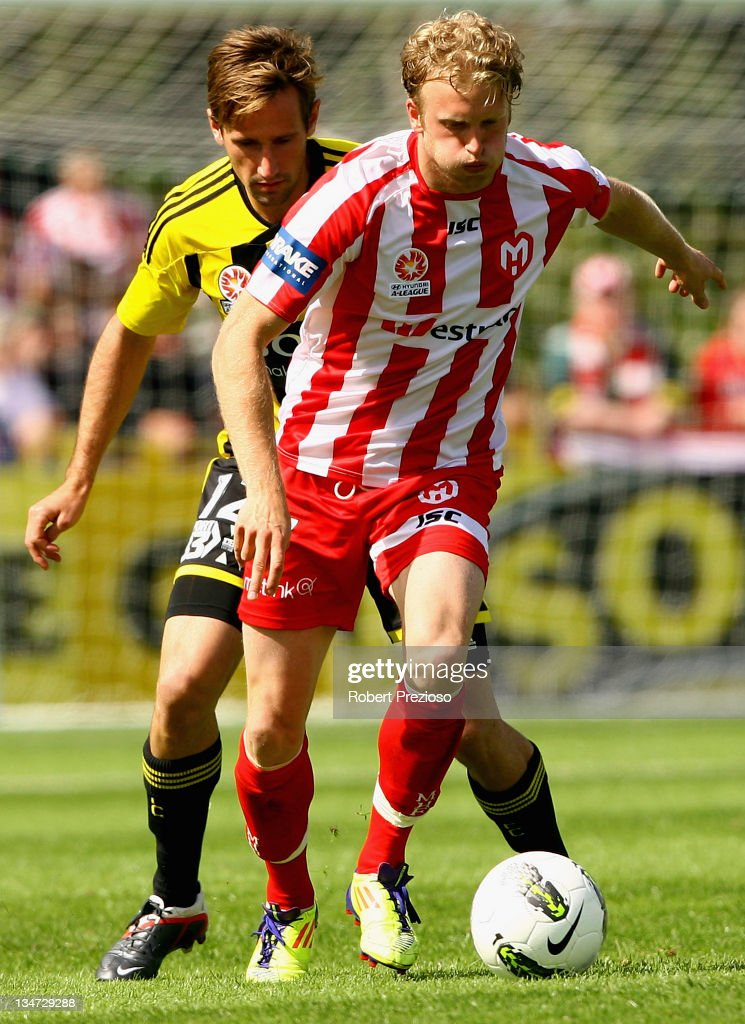 Rutger Worm of the Heart controls the ball during the round nine A-League match between the Melbourne Heart and the Wellington Phoenix at Latrobe City Sports & Entertainment Complex on December 4, 2011 in Melbourne, Australia.