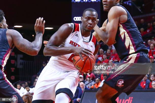 Rutgers Scarlet Knights forward Mamadou Doucoure during the first half of the BIG 10 ACC Challenge College Basketball game between the Rutgers...