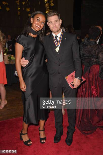 Ruth B and Michael Buble attend the Governor General's Awards 25th Anniversary Gala > at National Arts Centre on June 29 2017 in Ottawa Canada