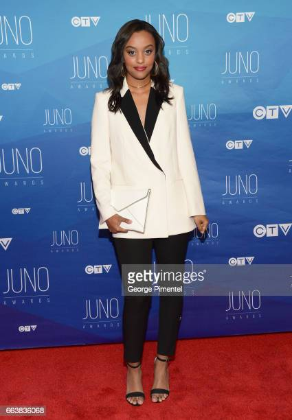 Ruth B arrives at the 2017 Juno Awards at Canadian Tire Centre on April 2 2017 in Ottawa Canada