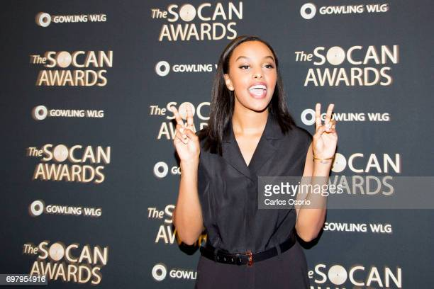 TORONTO ON JUNE 19 Ruth B poses for a photograph on the red carpet at the 2017 SOCAN Awards in Toronto on June 19 2017
