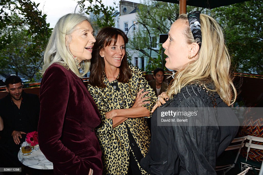 Ruth Chapman, Alison Loehnis and Bay Garnett attend a private dinner hosted by Rodial founder Maria Hatzistefanis & Bay Garnett at Casa Cruz on May 5, 2016 in London, England.