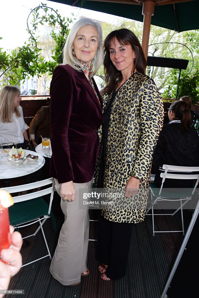 Ruth Chapman (L) and Alison Loehnis attend a private dinner hosted by Rodial founder Maria Hatzistefanis & Bay Garnett at Casa Cruz on May 5, 2016 in London, England.