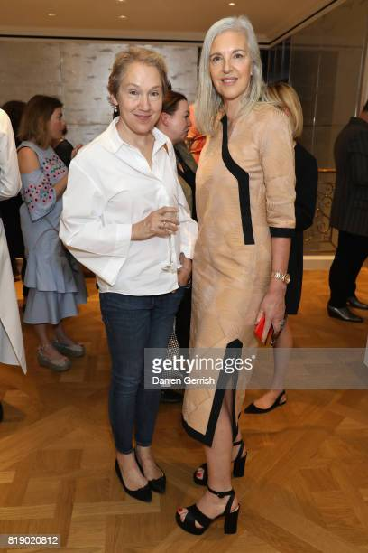 Ruth Chapman and Justine Picardie attend the Dior cocktail party to celebrate the launch of Dior Catwalk by Alexander Fury on July 19 2017 in London...
