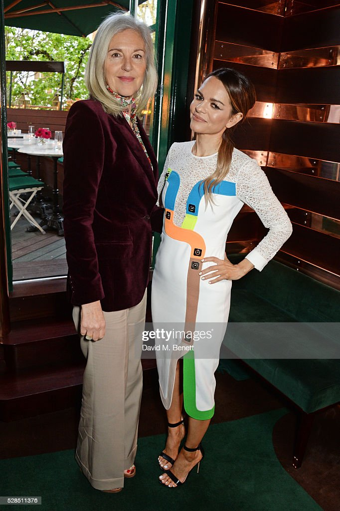 Ruth Chapman (L) and Maria Hatzistefanis attend a private dinner hosted by Rodial founder Maria Hatzistefanis & Bay Garnett at Casa Cruz on May 5, 2016 in London, England.