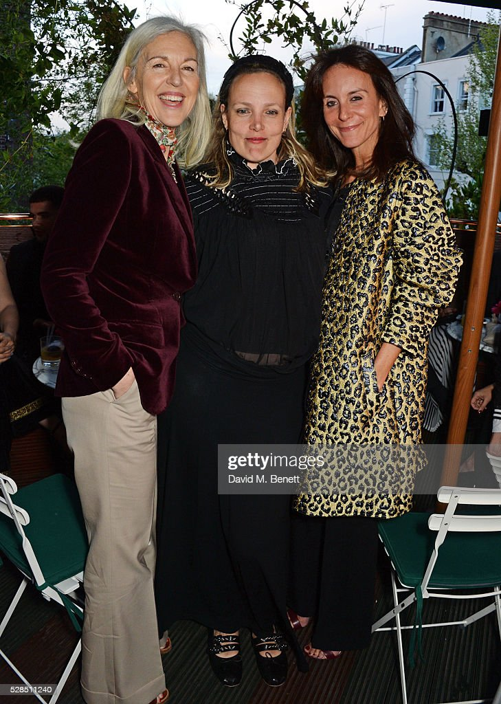 Ruth Chapman, Bay Garnett and Alison Loehnis attend a private dinner hosted by Rodial founder Maria Hatzistefanis & Bay Garnett at Casa Cruz on May 5, 2016 in London, England.